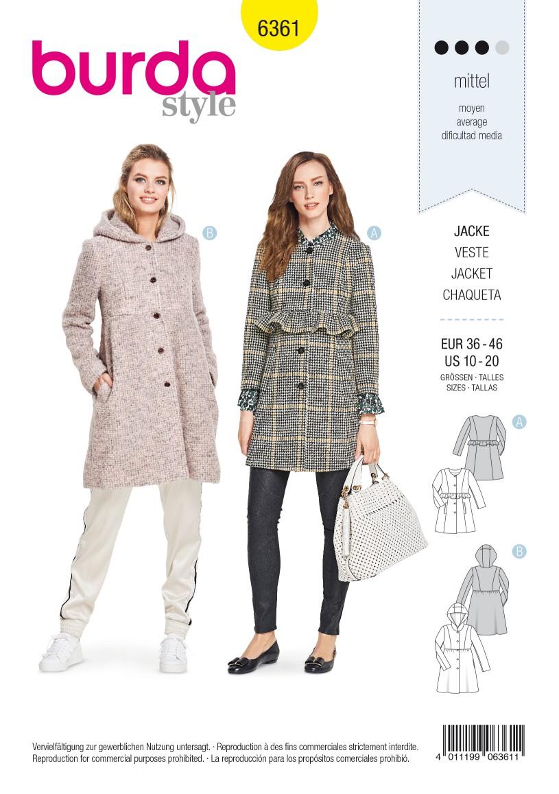 Burda Style Pattern B6361 Women's Jacket