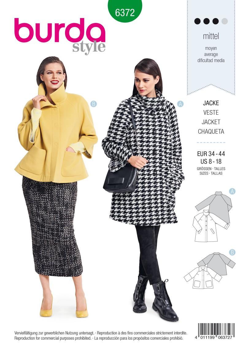 Burda Style Pattern B6372 Women's Jacket