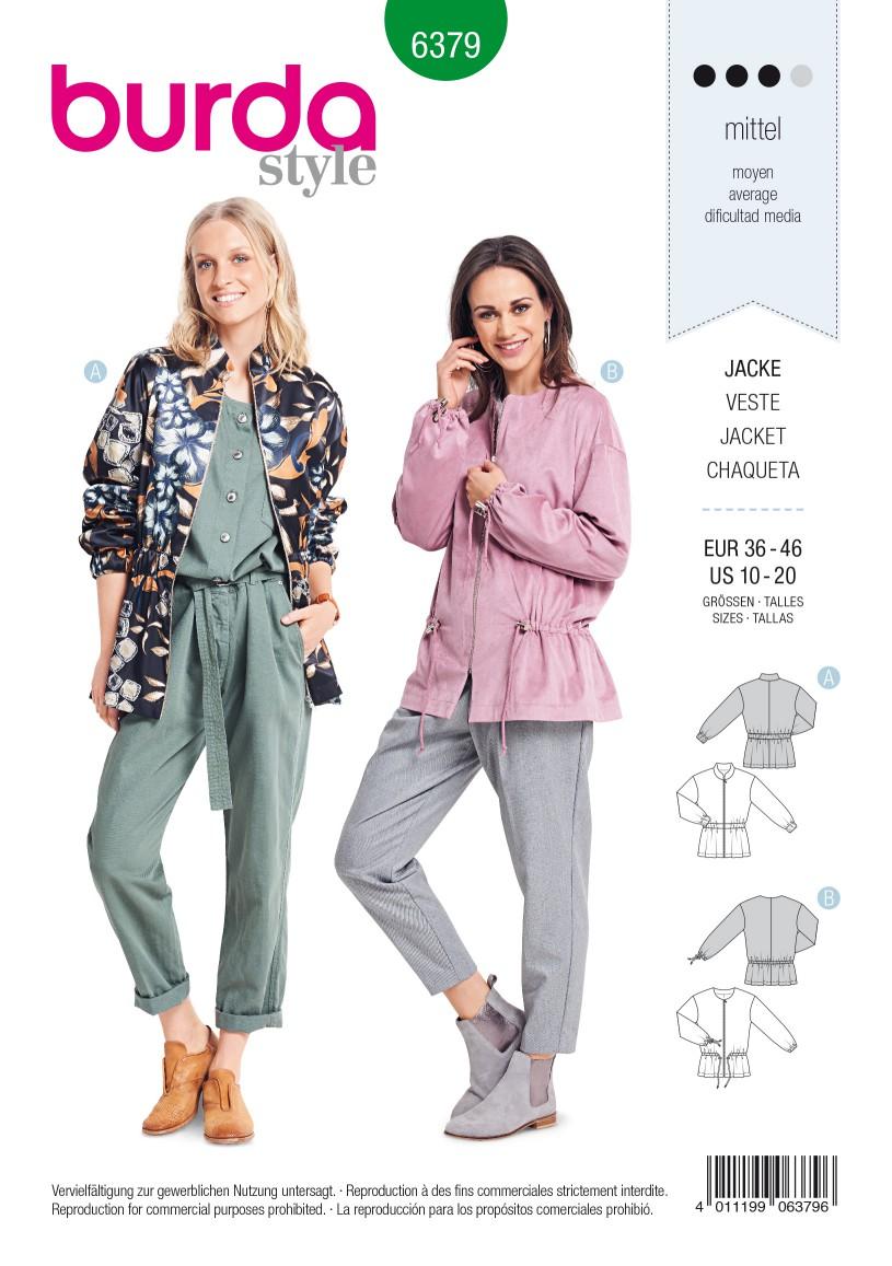 Burda Style Pattern B6379 Women's Blouson