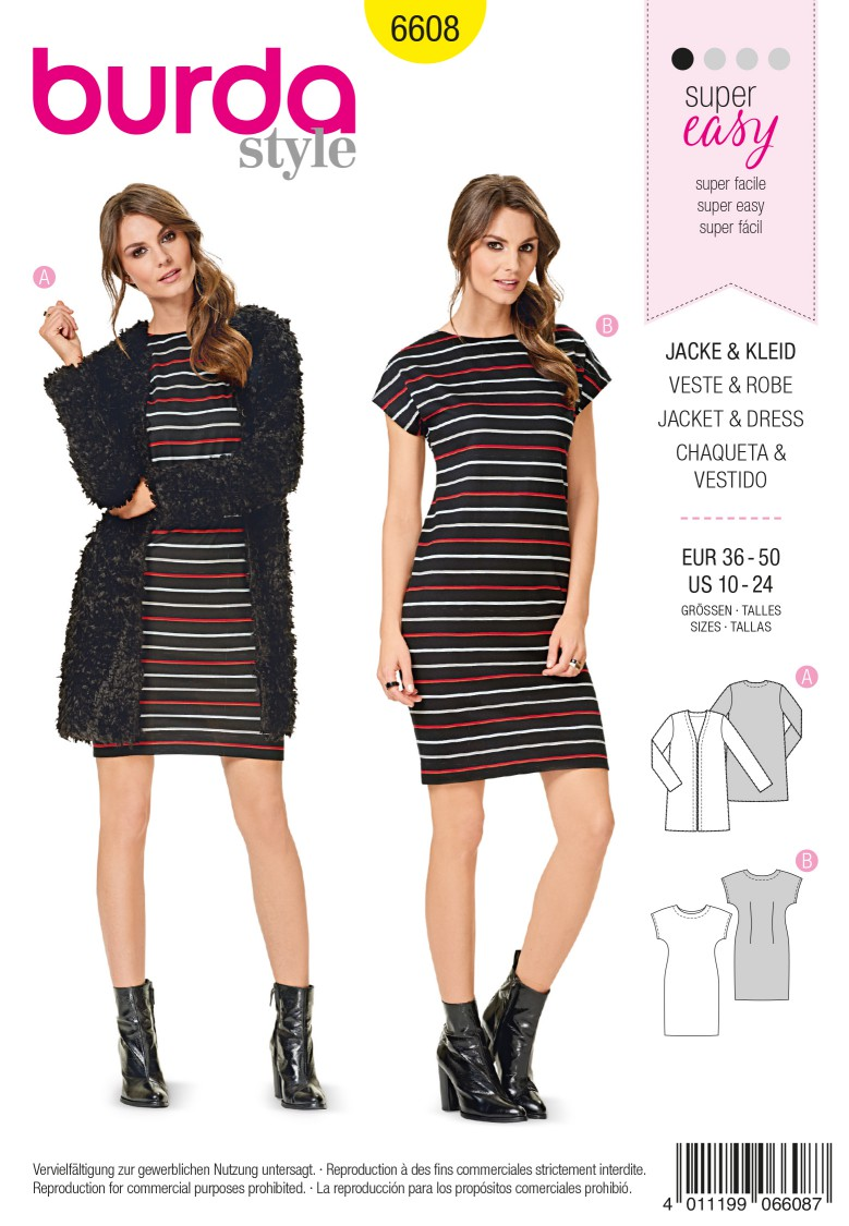 Burda Style Pattern 6608 Jacket & Dress