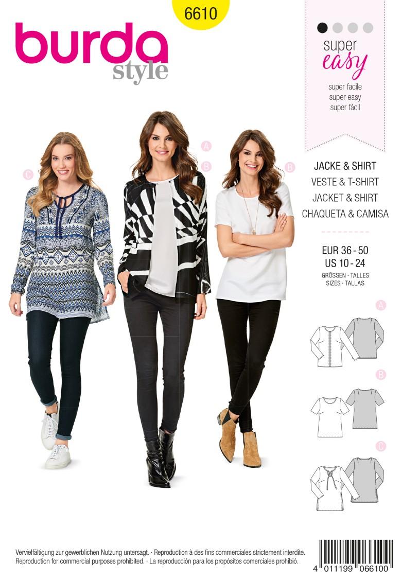 Burda Style Pattern 6610 Jacket & Shirt