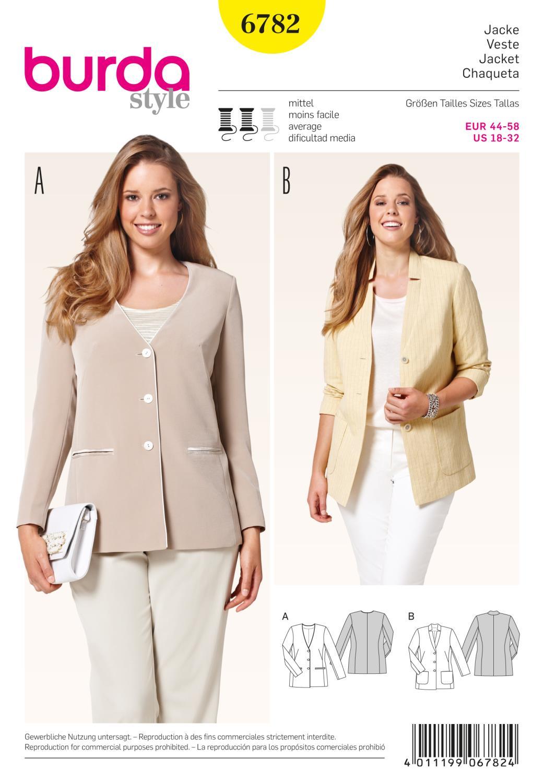 Burda B6782 Trousers, Jumpsuits Sewing Pattern
