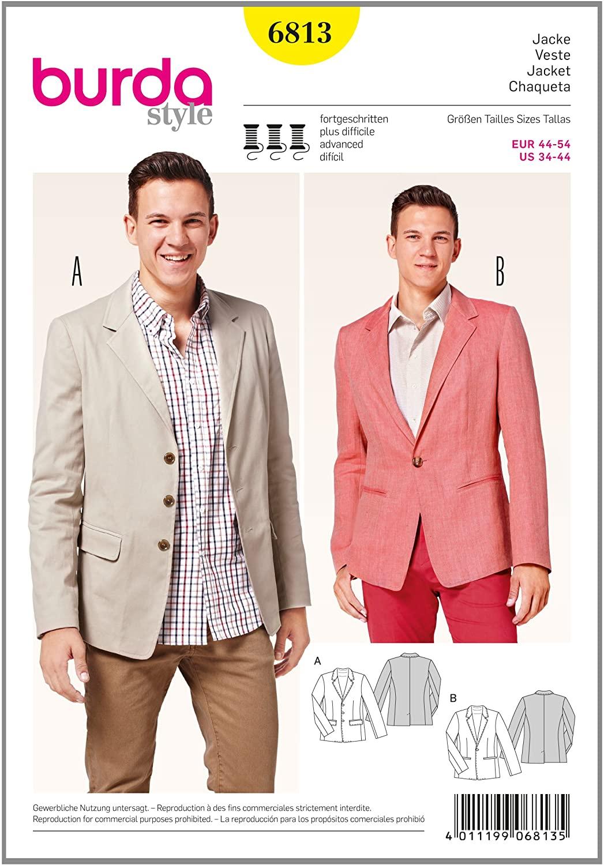 Burda B6813 Menswear, Sportswear Sewing Pattern