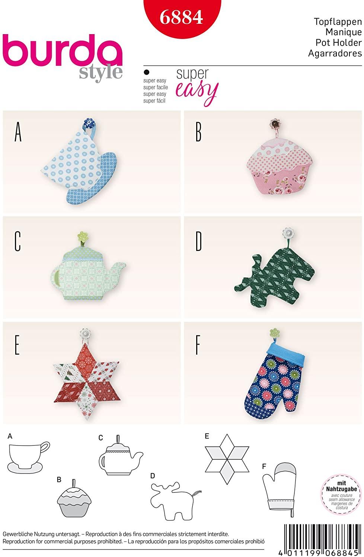 Burda Style B6884 Doll Clothes Sewing Pattern