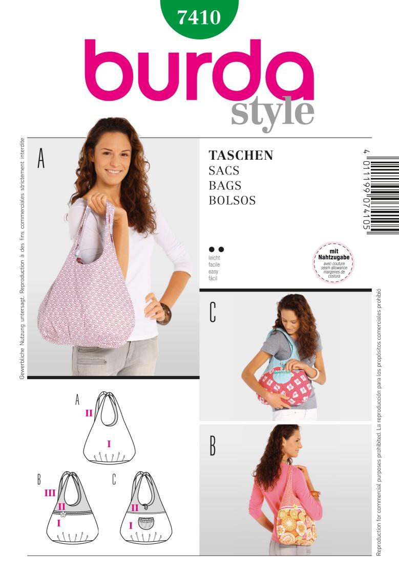 Burda B7410 Burda Style, Bags