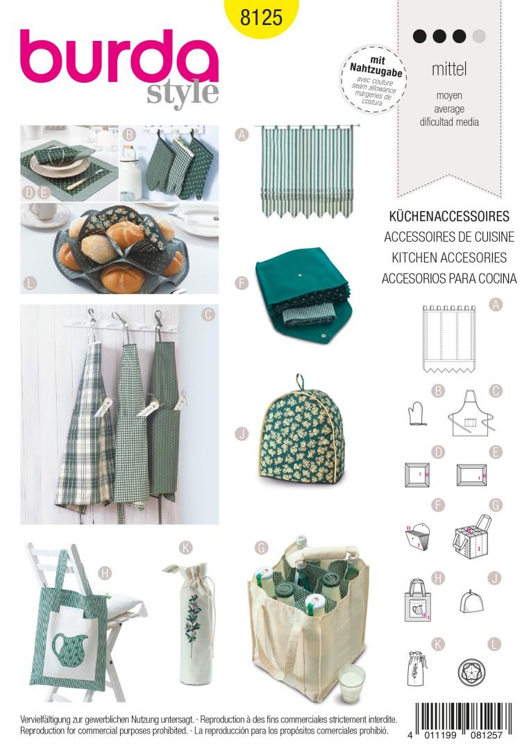 Burda B8125 Kitchen Accessories Sewing Pattern