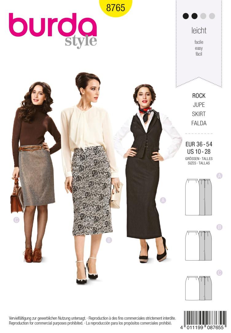 Burda B8765 Skirt Sewing Pattern