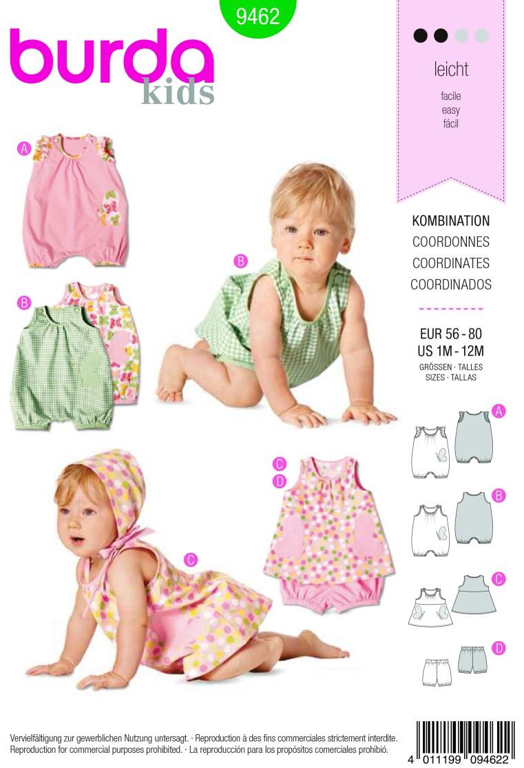 Burda Style B9462 Kids Coordinates Sewing Pattern