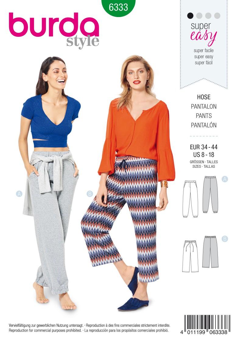 Burda Style Pattern 6333 Misses' jogging pant