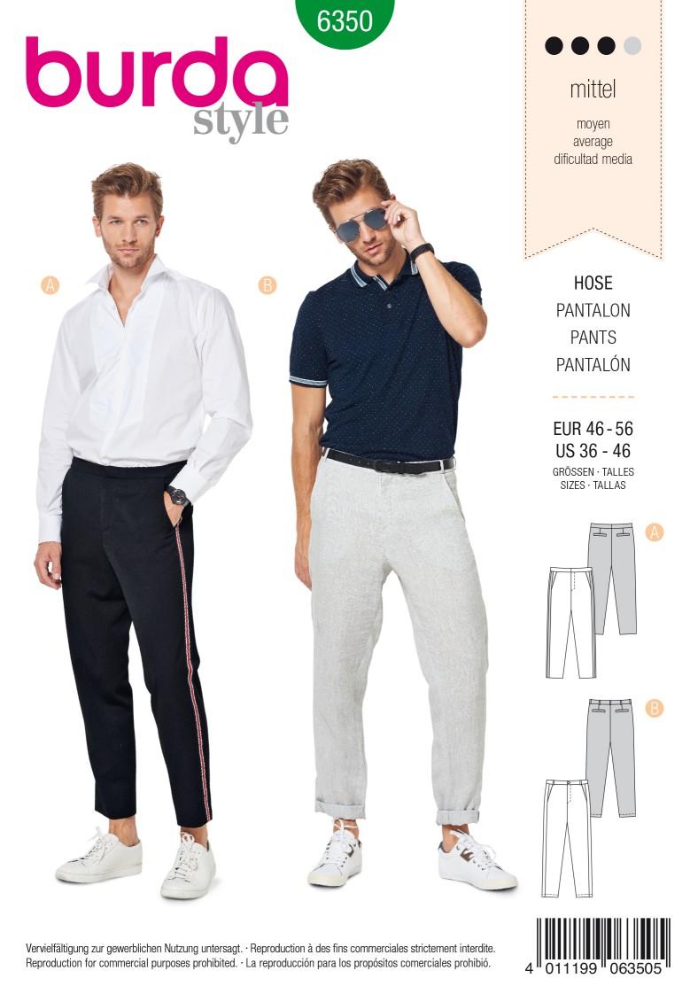 Burda Style Pattern 6350 Men's pants