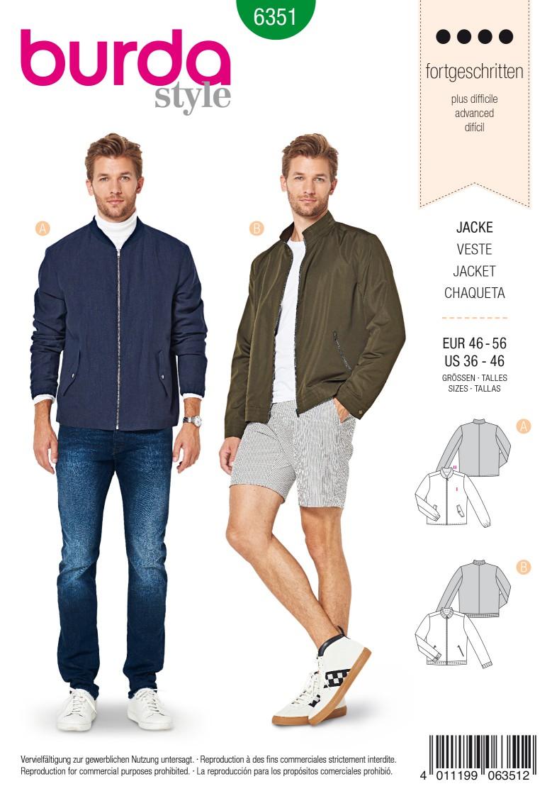 Burda Style Pattern 6351 Men's jacket