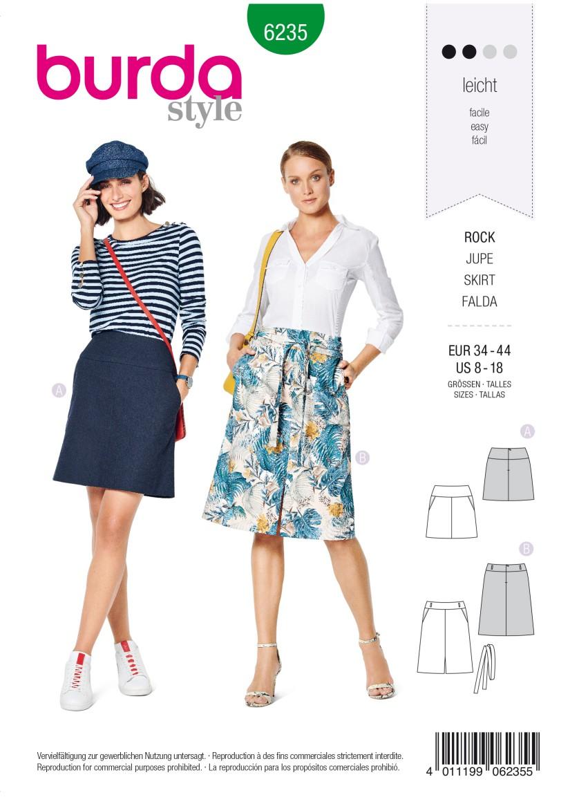 Burda Style Pattern 6235 Misses' Skirt with Yoke –  Hip Yoke Pockets