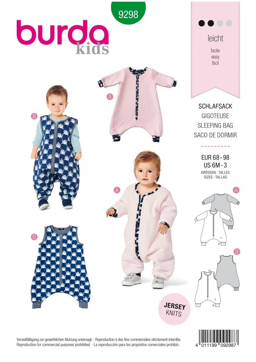 Burda Style Pattern 9298 Toddlers' Sleeping Bag with Legs –  Overall Sleeping Bag