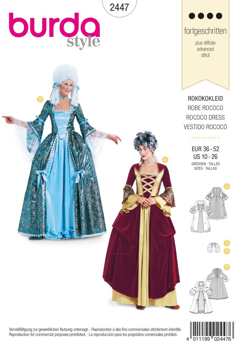 Burda Style B2447 Rococo Dress Sewing Pattern