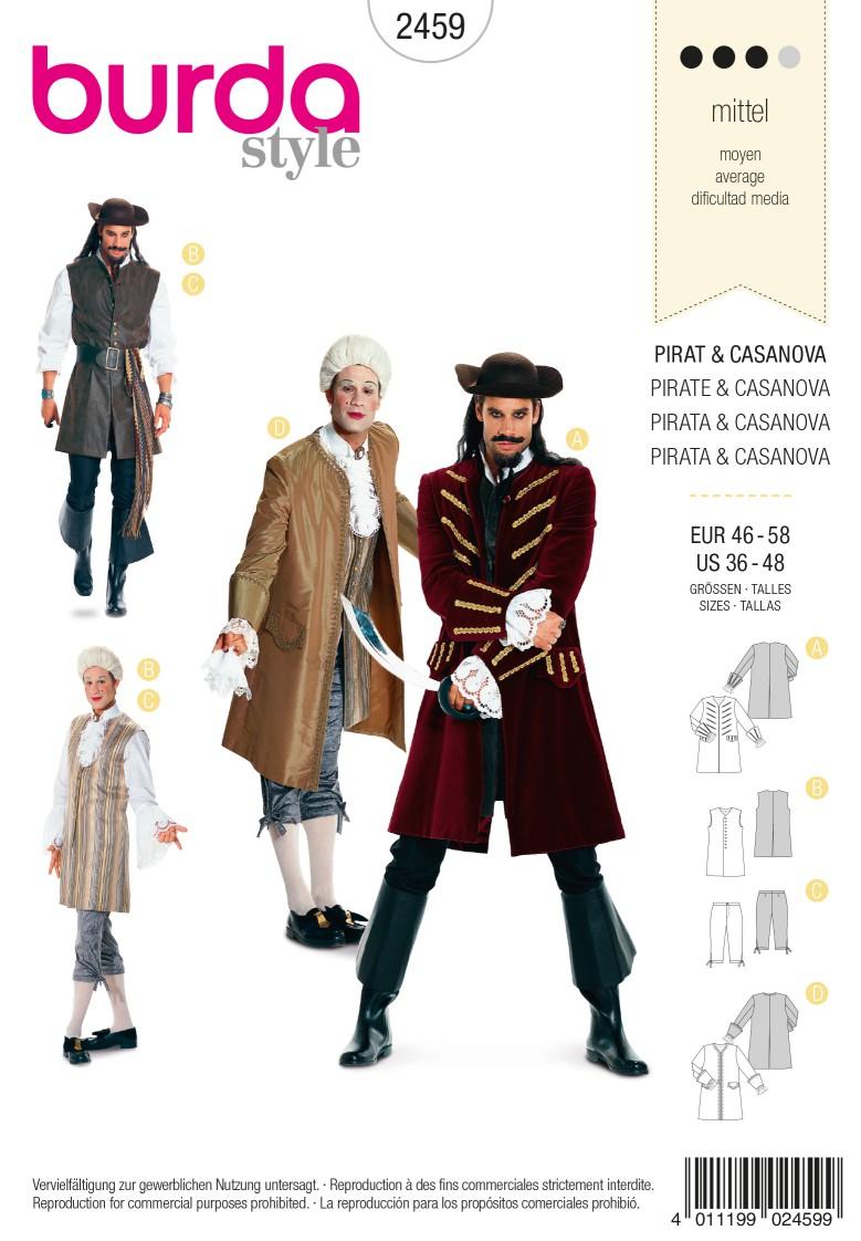 Burda Style B2459 Pirate & Casanova Costume Sewing Pattern