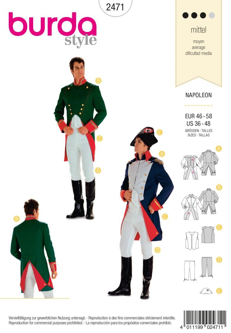 Burda Style B2471 Napoleon Costume Sewing Pattern