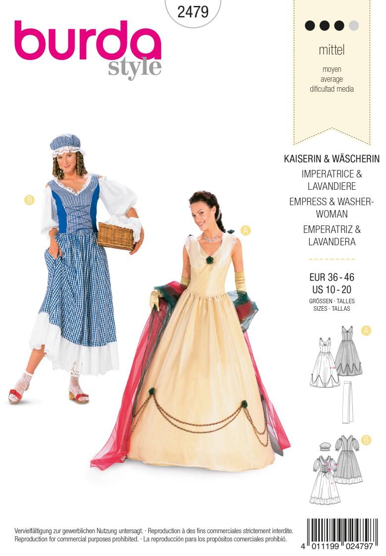 Burda Style B2479 Empress & Washerwoman Costume Sewing Pattern