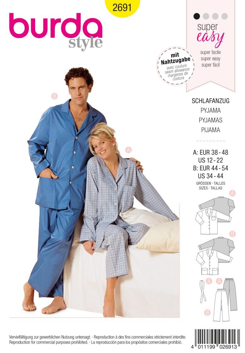Burda Style B2691 Pyjamas Sewing Pattern