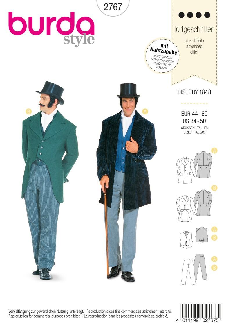 Burda Style B2767 History 1848 Costume Sewing Pattern