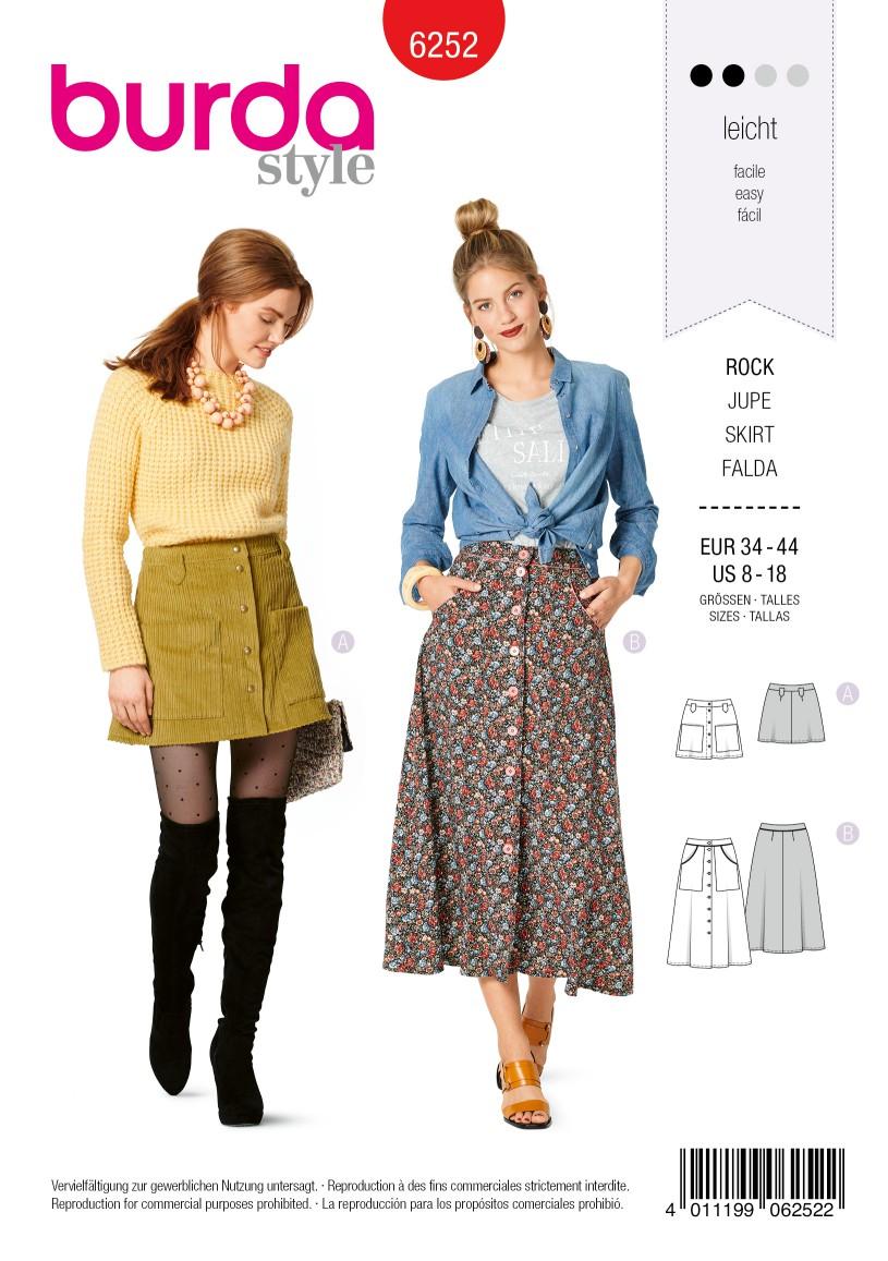 Burda Style Pattern 6252 Misses' Skirts