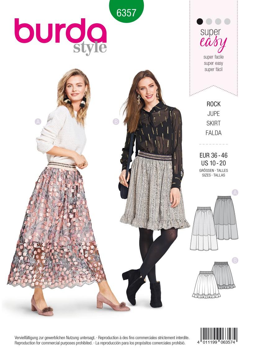 Burda Style Pattern B6357 Women's Skirt