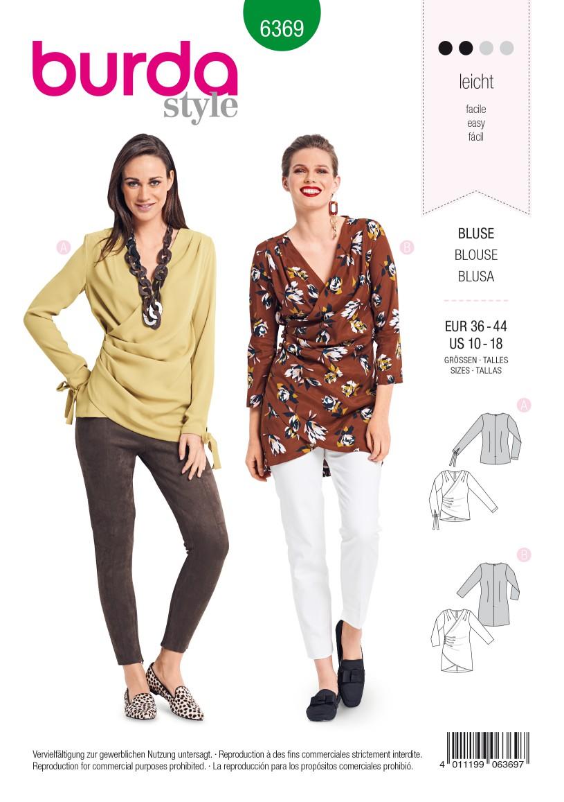 Burda Style Pattern B6369 Women's Blouse
