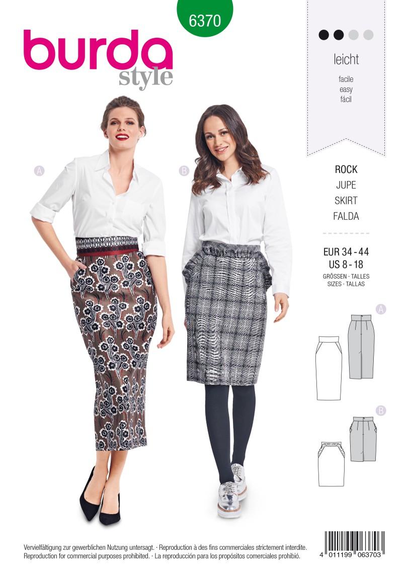 Burda Style Pattern B6370 Women's Pencil Skirt