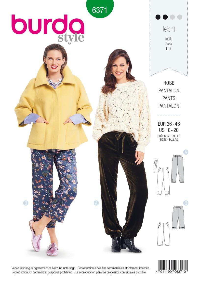 Burda Style Pattern B6371 Women's Trousers