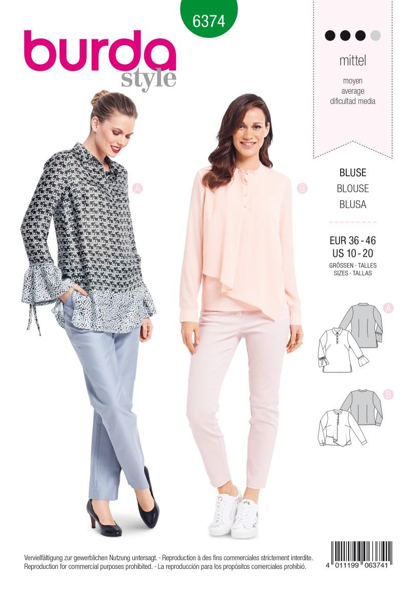 Burda Style Pattern B6374 Women's Blouse