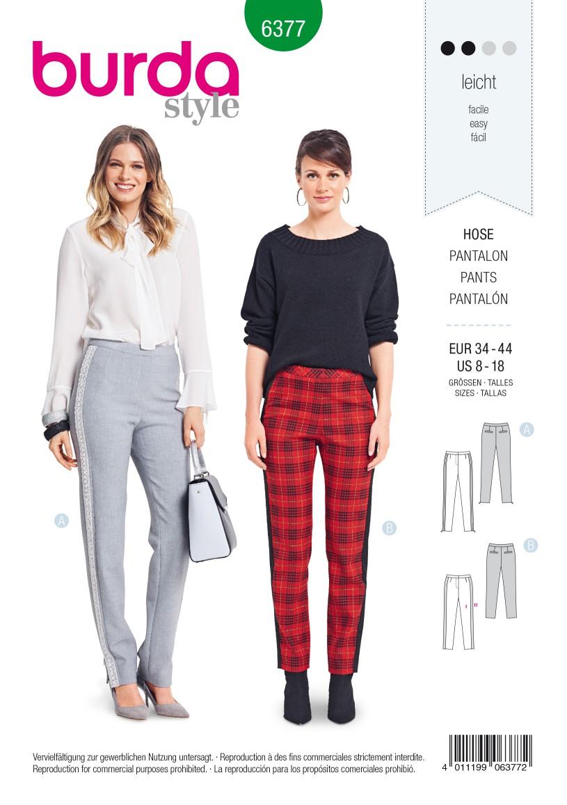 Burda Style Pattern B6377 Women's Trousers