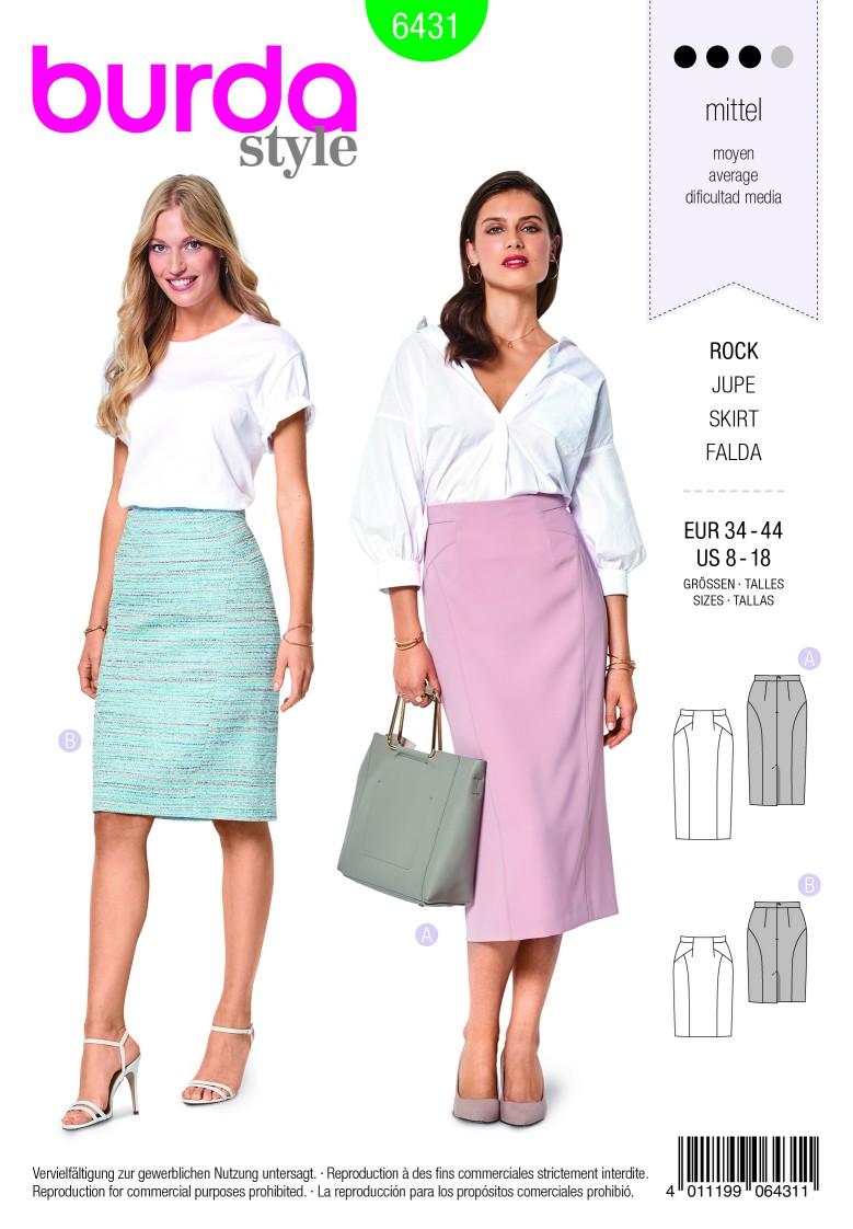 Burda Style Pattern B6431 Women's Pencil Skirt
