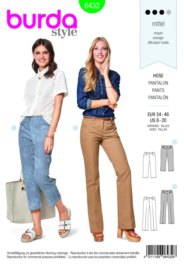 Burda Style Pattern B6432 Women's Dress Trousers