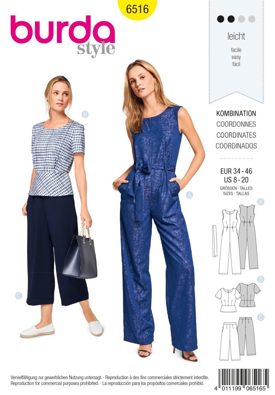 Burda Style Pattern B6516 Women's Coordinates