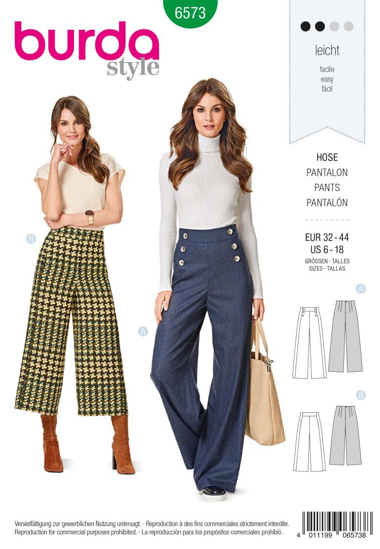 Burda Style Pattern 6573 Trousers