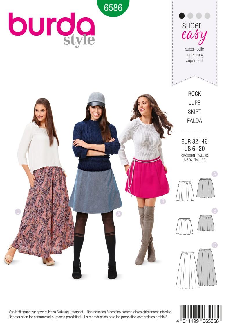 Burda Style Pattern 6586 Skirt