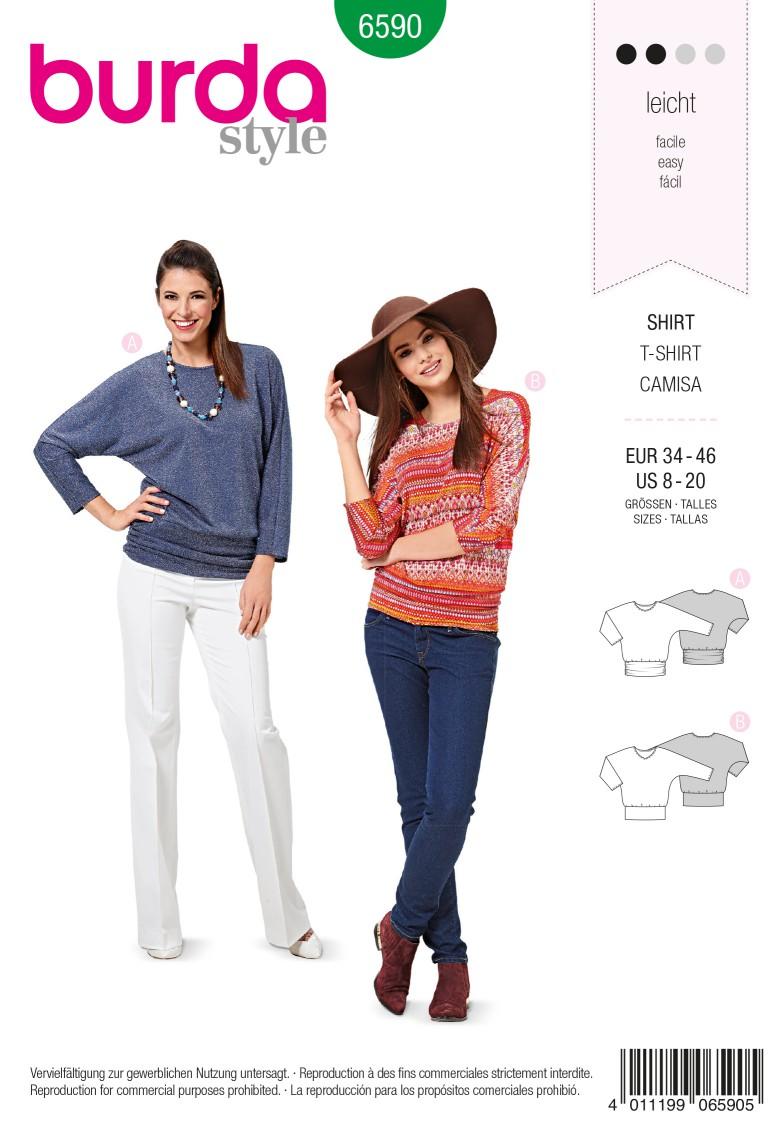 Burda Style Pattern 6590 Shirt