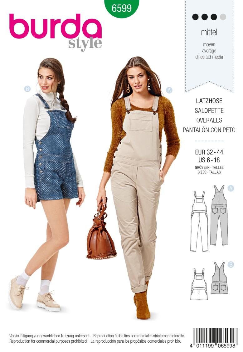 Burda Style Pattern 6599 Overalls