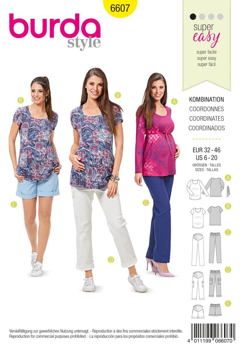 Burda Style Pattern 6607 Coordinates