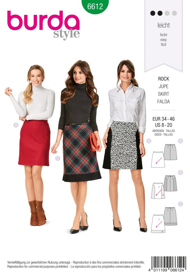 Burda Style Pattern 6612 Skirt