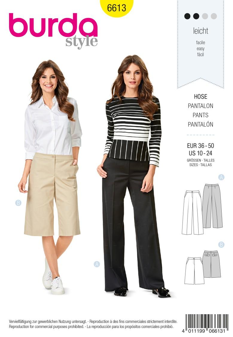 Burda Style Pattern 6613 Trousers