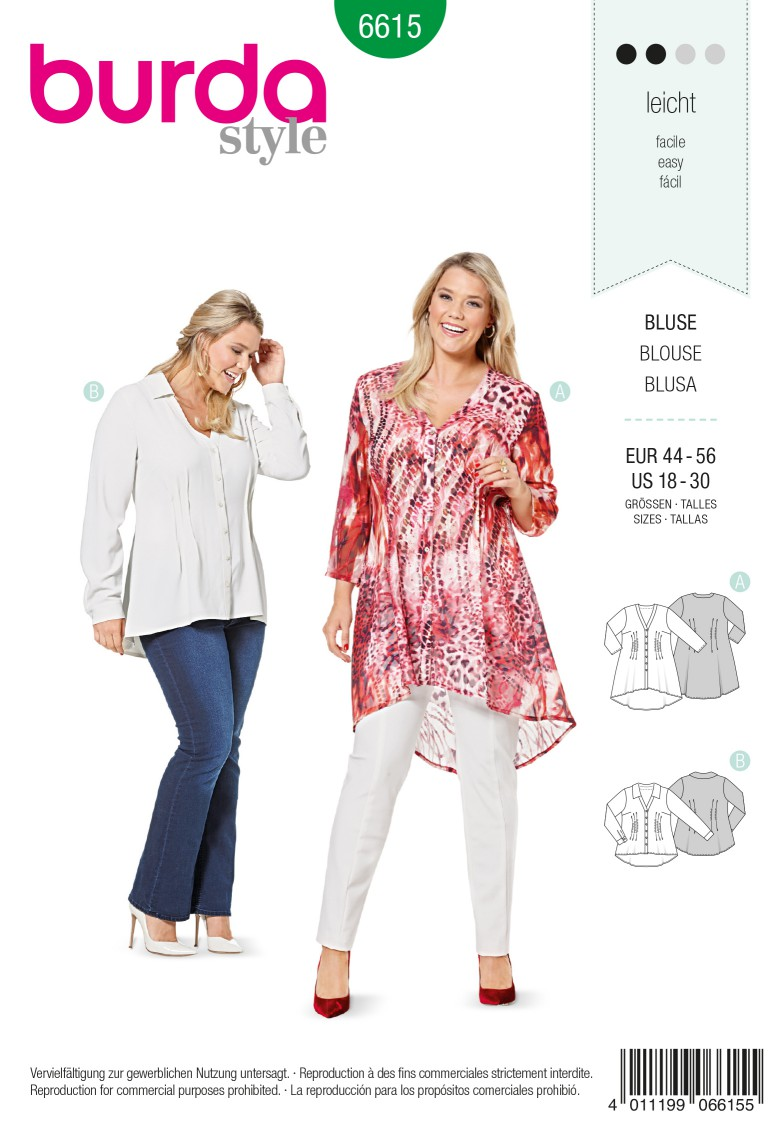Burda Style Pattern 6615 Blouse