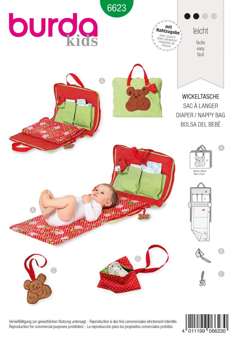 Burda Style Pattern 6623 Diaper / Nappy bag