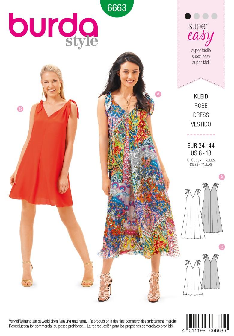 Burda B6663 Women's Dress Sewing Pattern
