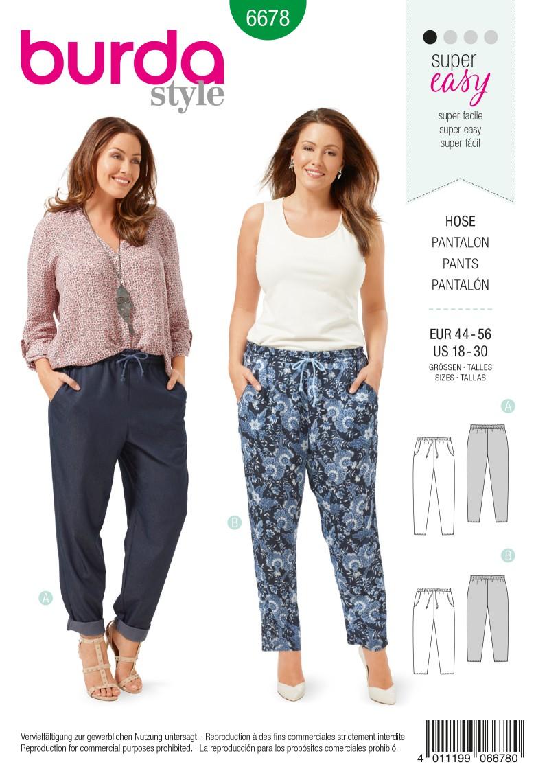 Burda B6678 Women's Trousers Sewing Pattern
