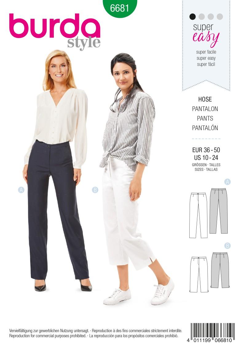 Burda B6681 Women's Trousers Sewing Pattern