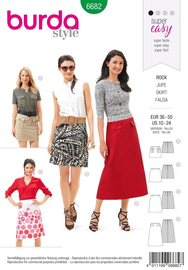 Burda B6682 Women's Skirt Sewing Pattern