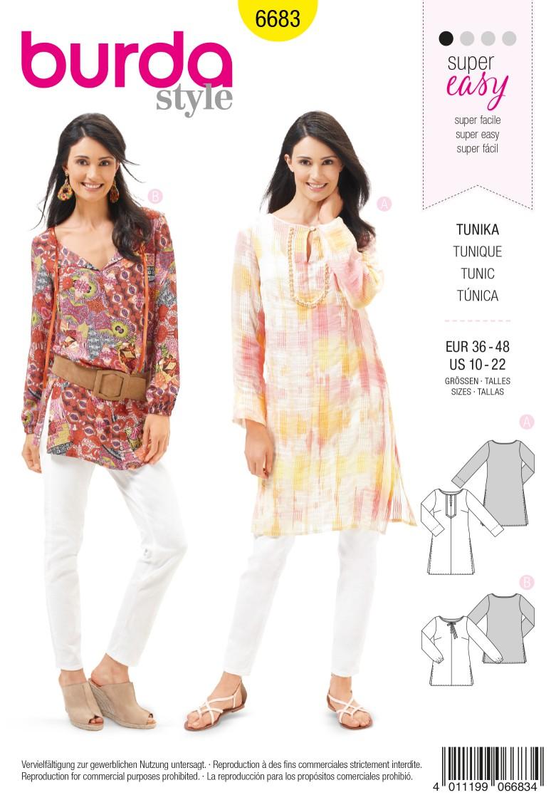 Burda B6683 Women's Tunic Sewing Pattern