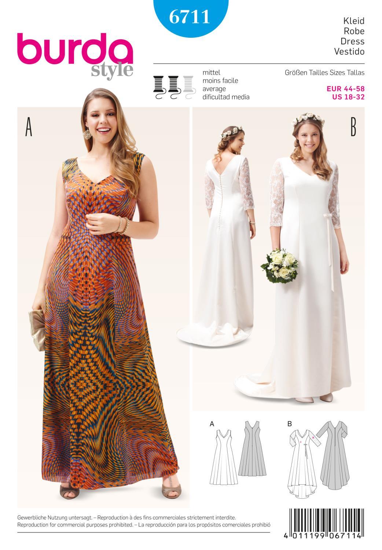 Burda B6711 Women's and Plus Size Dress