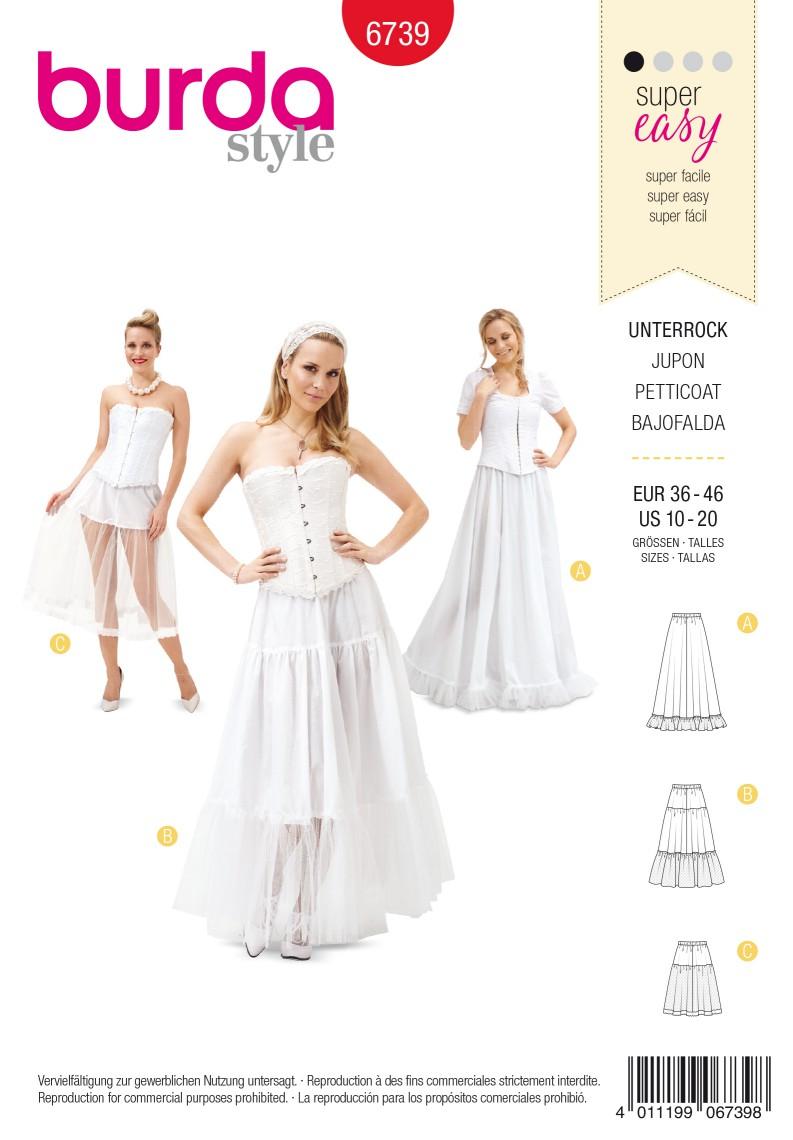 Burda B6739 Women's Petticoat Sewing Pattern