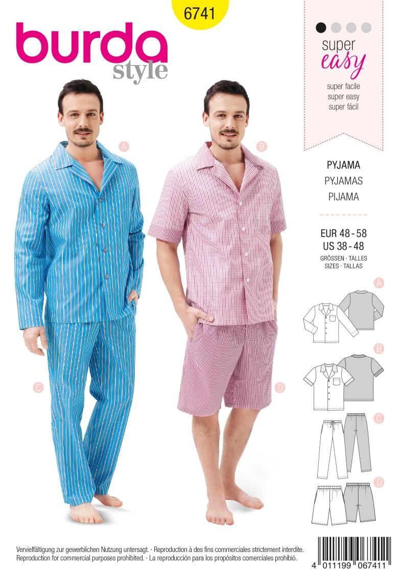 Burda B6741 Men's Sleepwwear